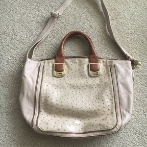 Steve Madden faux leather/ostrich bag